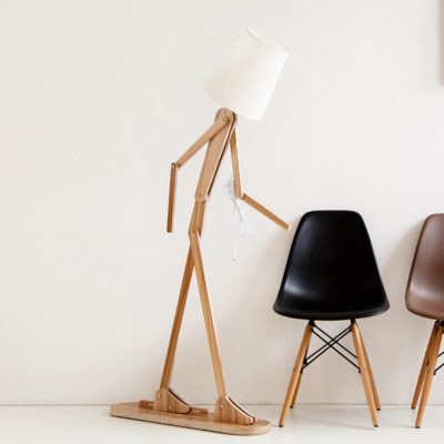 Creative Wooden Floor Lamp Lighting Standing Light